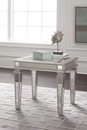 Tessani - Silver Finish - Rectangular End Table