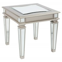 Tessani - Silver Finish - Rectangular End Table