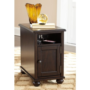 Barilanni - Dark Brown - Chair Side End Table