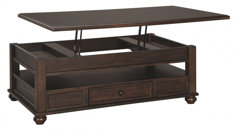 Barilanni Dark Brown Lift Top Cocktail Table T934 9 Cocktail