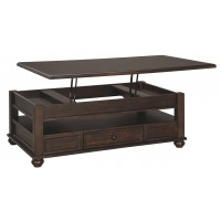 Barilanni - Dark Brown - Lift Top Cocktail Table