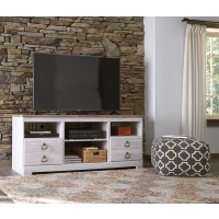 Willowton - Whitewash - LG TV Stand w/Fireplace Option