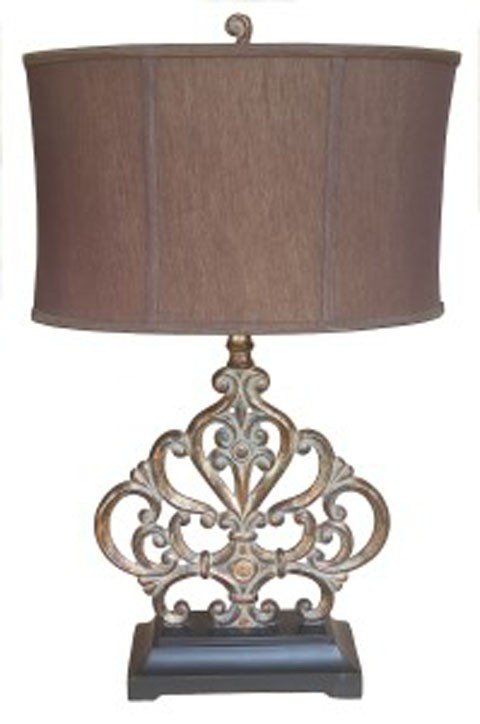 Broderick   Antique Copper Finish   Poly Table Lamp (1/CN)