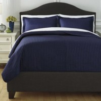 Raleda - Navy - Twin Coverlet Set