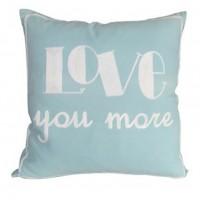 Love You More - Light Blue - Pillow