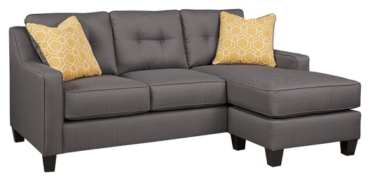 aldie nuvella gray sofa chaise - Chaise Table