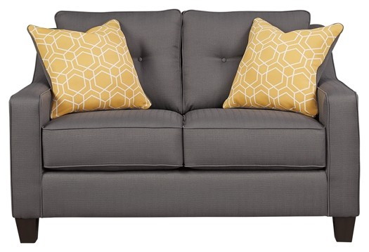 Surprising Aldie Nuvella Gray Loveseat Home Interior And Landscaping Ologienasavecom