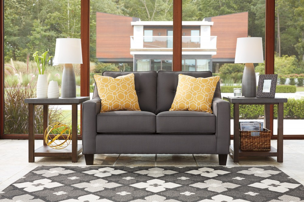 Aldie Nuvella - Gray - Loveseat