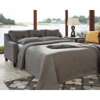 Aldie Nuvella - Gray - Queen Sofa Chaise Sleeper
