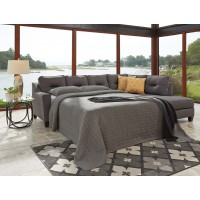 Kirwin Nuvella - Gray - LAF Queen Sofa Sleeper