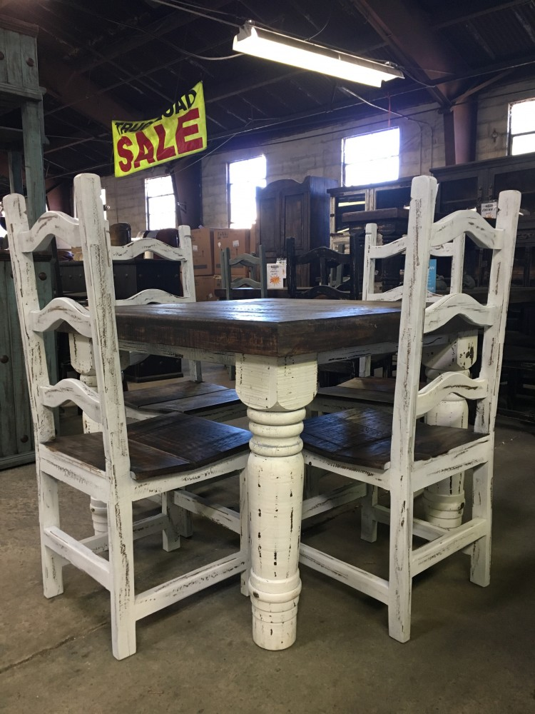 Rustic Canyon White 5PC Dinette