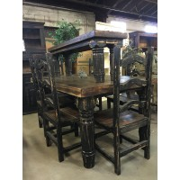 Rustic Canyon Black 7pc Dinette
