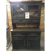 Rustic Canyon Distressed Black China Cabinet