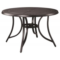 Burnella - Brown - Round Dining Table w/UMB OPT