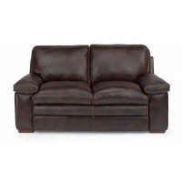 Penthouse Dark Brown Leather Loveseat