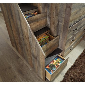 Trinell Left Storage Steps with Loft Ends