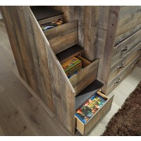 Trinell - Brown - Left Storage Steps w/Loft Ends