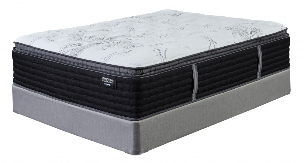 Manhattan Design District Firm PT   White   California King Mattress