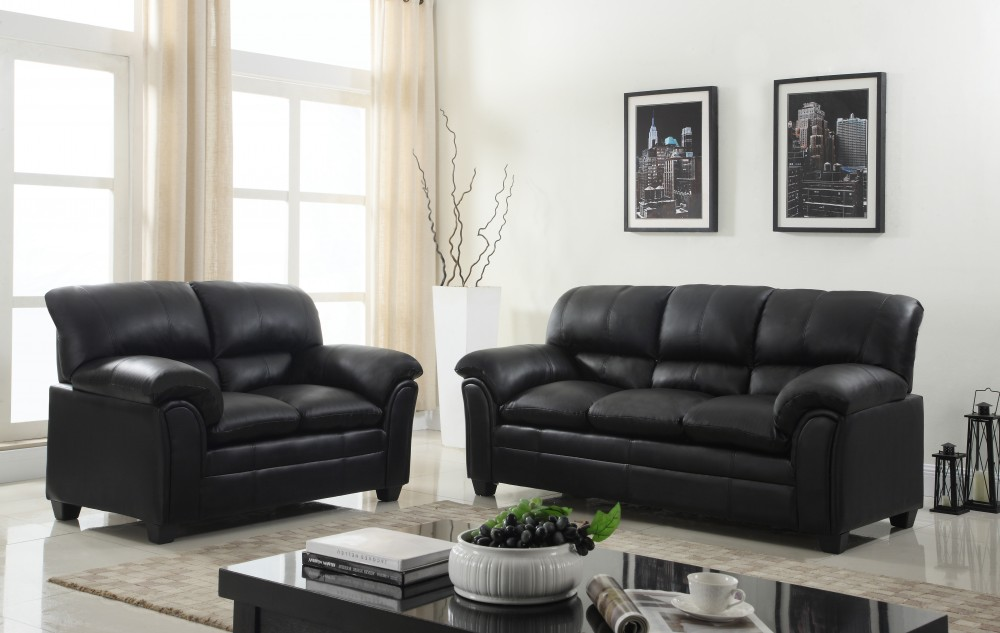 Black Sofa And Love Global 6192 Living Room Sets Price Busters Furniture