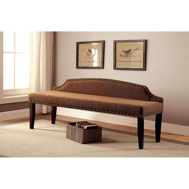 HASSELT LARGE BENCH, BROWN