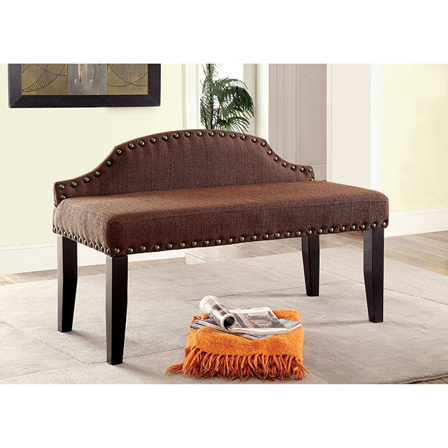 HASSELT SMALL BENCH, BROWN