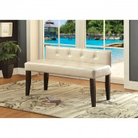 GALEN SMALL BENCH, PEARL WHITE