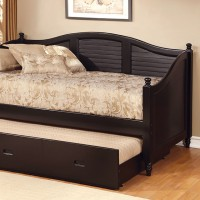 BEL AIR DAYBED W/ TRUNDLE, BLACK