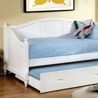 BEL AIR DAYBED W/ TRUNDLE, WHITE