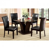 MANHATTAN GLASS TOP ROUND DINING TABLE