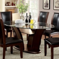 MANHATTAN GLASS TOP OVAL TABLE