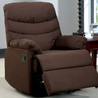 PLESANT VALLEY RECLINER, BROWN MICROFIBER