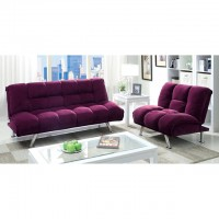 MAYBELLLE FUTON SOFA, PURPLE