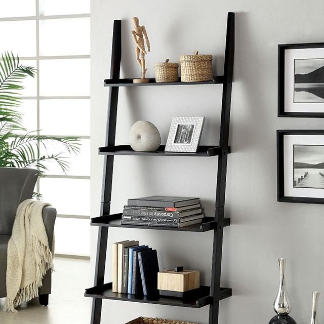 SION LADDER SHELF, BLACK