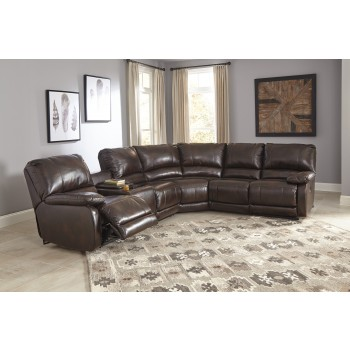 Hallettsville - Saddle 4 Pc. Reclining RAF Recliner Sectional