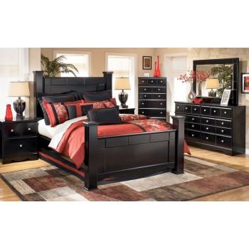 Shay Bedroom Set in Black