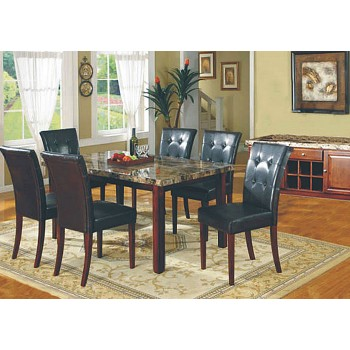 Faux Marble Dining Room Table and 4 Chairs
