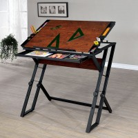 LORAN HEIGHT ADJUSTABLE DRAWING DESK