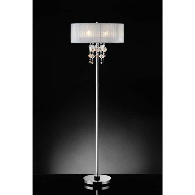 LUCILLE FLOOR LAMP, HANGING CRYSTAL