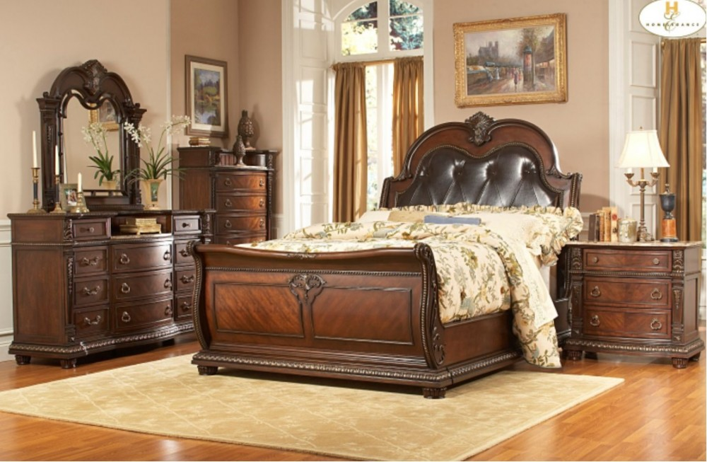 Palace Bedroom Set   Dark Cherry
