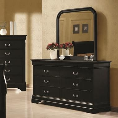 Louis Philippe Bedroom Set - Black | LouisPblk_BdrPkg | Bedroom ...