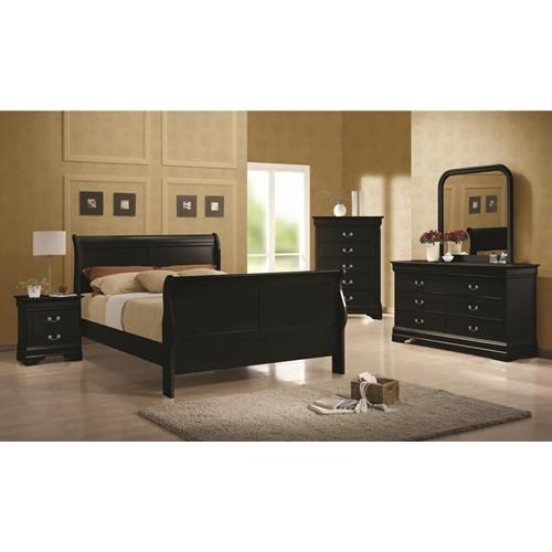 Louis Philippe Bedroom Set   Black