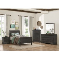 Louis Philippe Bedroom Set - Stained Grey