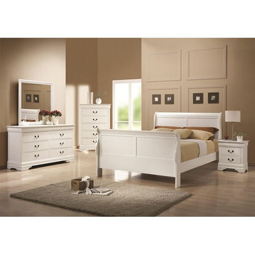 Louis Philippe Bedroom Set - White