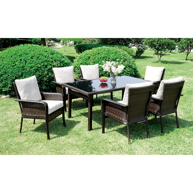 Shakira 7 Pc Patio Dining Set Outdoor Seating D L Furniture