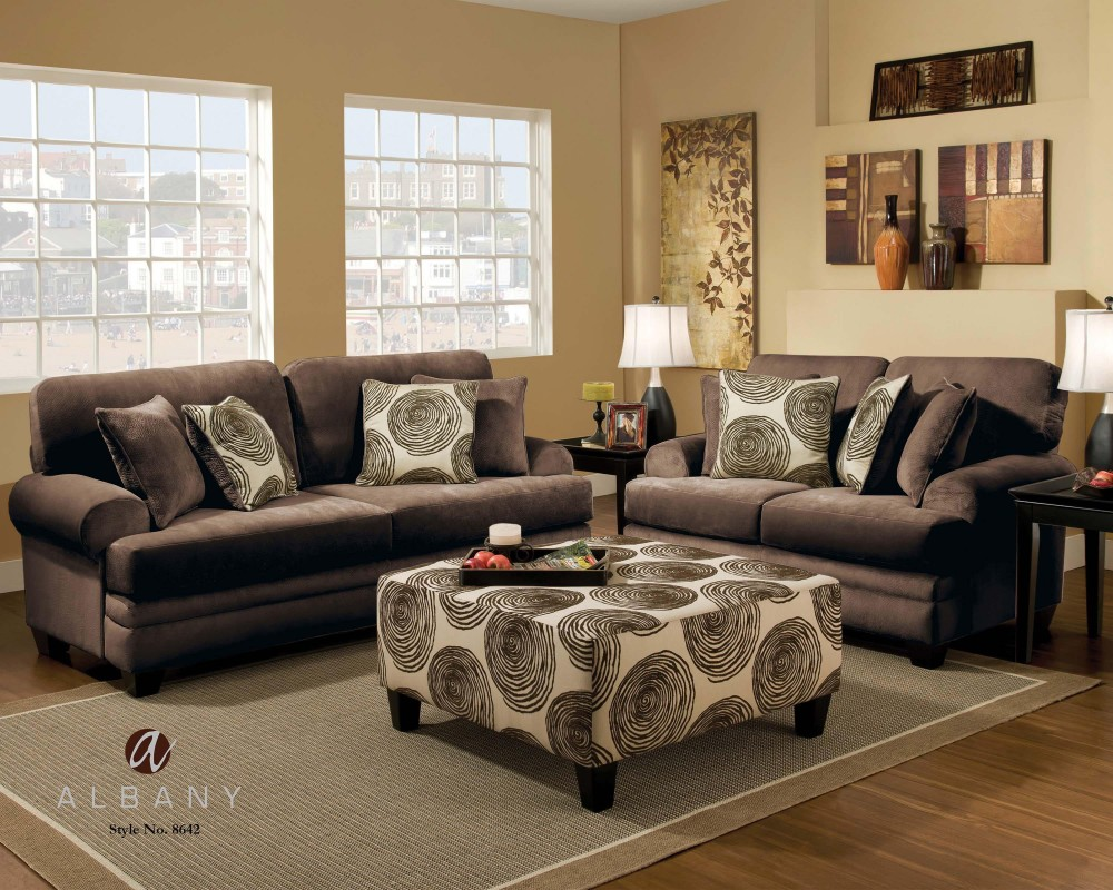 groovy chocolate sofa and loveseat 8642 living room sets