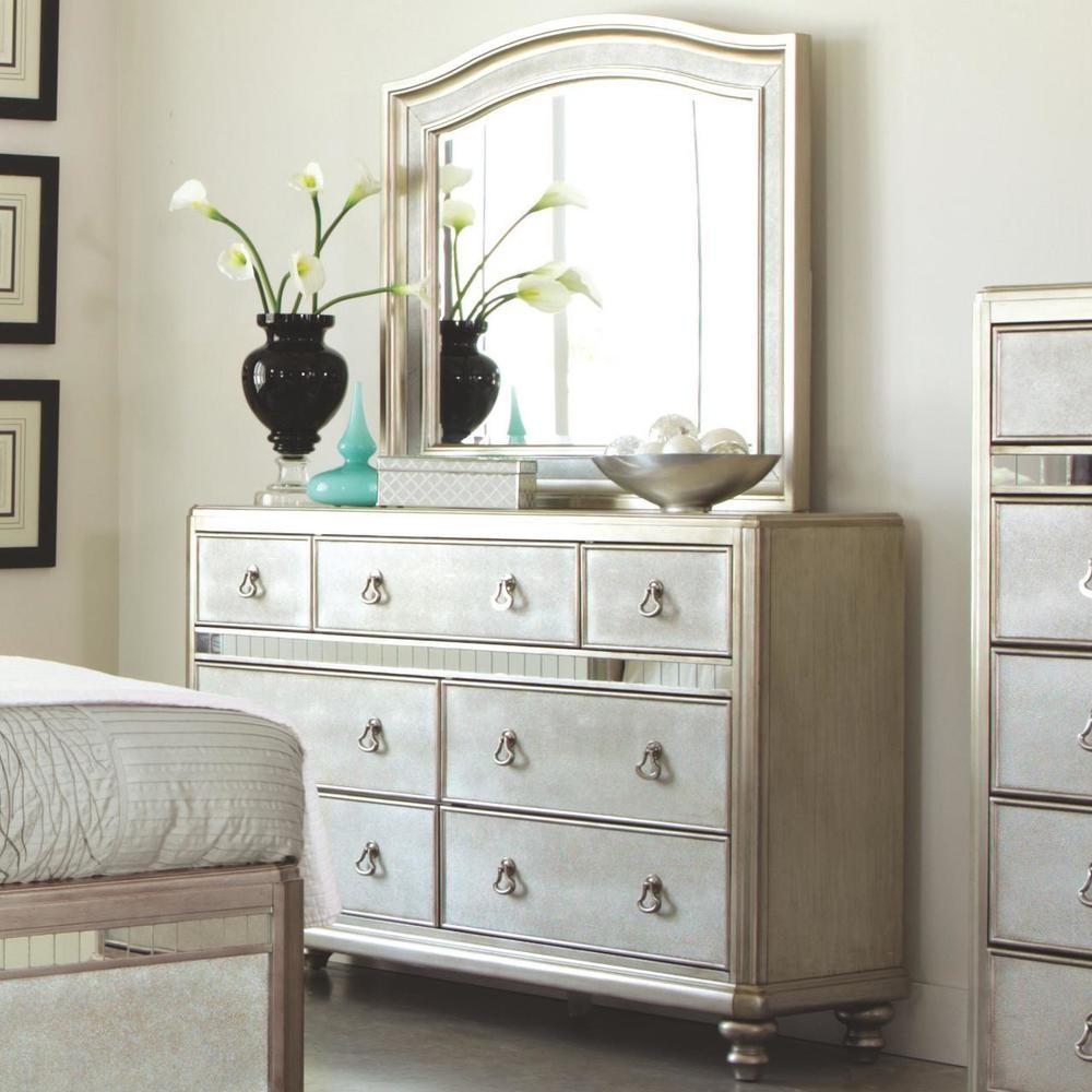 interesting hollywood bedroom furniture set | Hollywood Bling Bedroom Set - Platinum Finish | 20418pkg ...