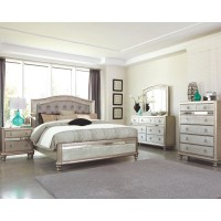 Hollywood Bling Bedroom Set - Platinum Finish