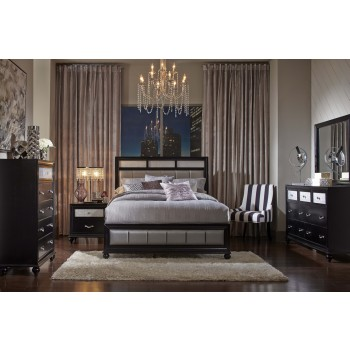 Barzini Bedroom Set - Black finish