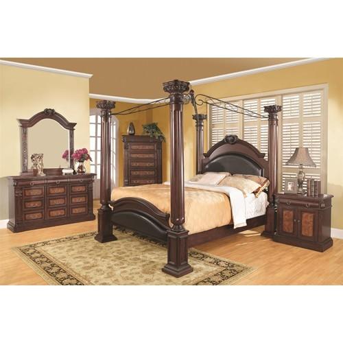 Grand Prado Bedroom Set - Dark Cherry