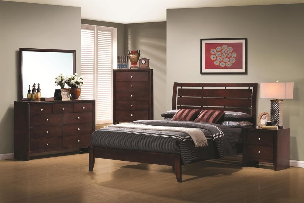 Serenity Bedroom Set - Rich Merlot